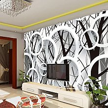 HGFHGD 3D soggiorno murale astratto cerchio albero
