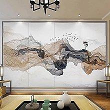 HGFHGD 3D soggiorno murale astratto fumo paesaggio