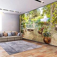 HGFHGD 3D soggiorno murale balcone giardino