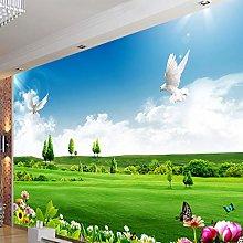 HGFHGD 3D soggiorno murale bella prateria piccione