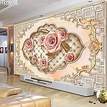 HGFHGD 3D soggiorno murale bella rosa fiore TV