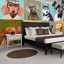 HGFHGD 3D soggiorno murale cane retro pet TV