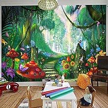 HGFHGD 3D soggiorno murale cartone animato foresta
