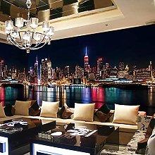 HGFHGD 3D soggiorno murale città vista notturna