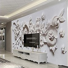 HGFHGD 3D soggiorno murale fiore in rilievo parete