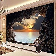 HGFHGD 3D soggiorno murale grotta paesaggio marino