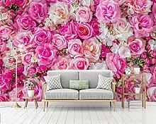 HGFHGD 3D soggiorno murale moderno rosa rosa TV