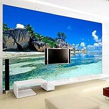 HGFHGD 3D soggiorno murale ocean beach TV sfondo