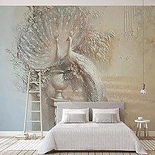 HGFHGD 3D soggiorno murale sollievo pavone TV