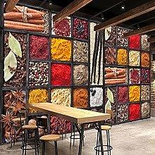 HGFHGD 3D soggiorno murale spezia condimento