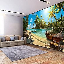 HGFHGD 3D soggiorno murale spiaggia albero di