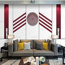 HGFHGD 3D soggiorno murale viola tridimensionale