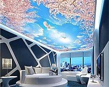 HGFHGD Carta da parati per soffitti 3D Cielo blu