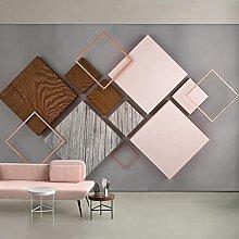 HGFHGD Murale 3D stereo geometrico quadrato