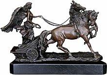 HGNMK Figurina Animale Statua Ornamenti Donna