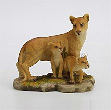 HGNMK Ornamenti Leone Arte Scultura Madre e Figlio
