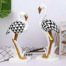 HGNMK Scultura Statua Origami Animale Arte
