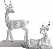 HGNMK Scultura Statua Scultura Animale Alce