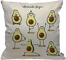 HGOD DESIGNS - Federa per cuscino con avocado,