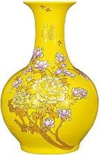 HGVVNM Ceramica giallo grande grande piano a