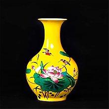 HGVVNM Ornamenti In Ceramica Vaso Rosa Glassa