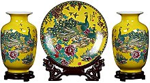 HGVVNM Set A Tre Pezzi di Vaso in Ceramica