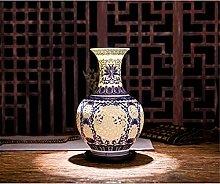 HGVVNM Vaso In Ceramica Cavo Vaso Blu E Bianco