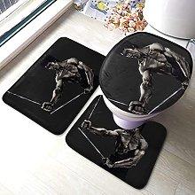 Hirola Bruce Lee - Set di 3 tappetini da bagno