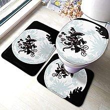 Hirola E.T - Set di 3 tappetini da bagno morbidi