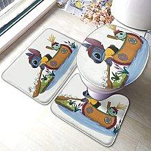 Hirola Lilo Stitch, set di 3 tappetini da bagno