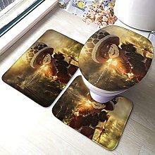 Hirola - Set di 3 tappetini da bagno in 3 pezzi,