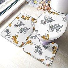 Hirola Tom & Jerry - Set di 3 tappetini da bagno