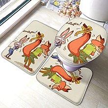 Hirola Zootropolis - Set di 3 tappetini da bagno