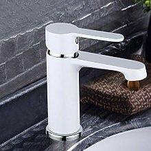Hiwenr Rubinetto per lavabo Bianco in Ottone