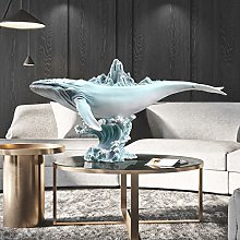 HJKIUY Scultura Statua Balena Portico Decorazione