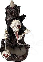 HJKIUY Scultura Statua Creativa Dipinta Testa di