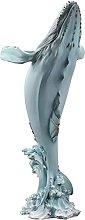 HJKIUY Scultura Statua Decorazione della Balena