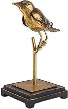 HJKIUY Scultura Statua Uccello d'oro