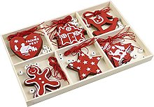 Hktec Decorazione natalizia in legno, 18/30 pezzi,