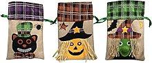 Hm Vicyy Sacchetti di Tela di Halloween,Sacchetti