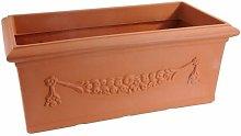 Hobby & Style Vaso Festone Rettangolare Coccio 100