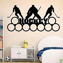 Hockey Wall Decal Art Sport Bambini Ragazzi Camera