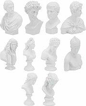 Holibanna 10Pcs Statua Greca Testa Famosa Scultura