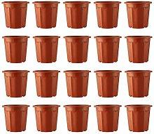 Holibanna 20Pcs di Plastica Piante Piantine Vaso