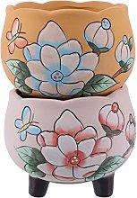 Holibanna 2Pcs Ceramica Succulente Cactus Vaso di