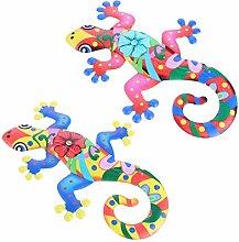 Holibanna 2Pcs Gecko del Metallo di Arte della