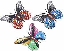 Holibanna 3Pcs del Metallo della Farfalla di Arte