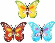 Holibanna 3Pcs della Farfalla della Parete Appeso