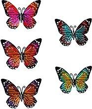Holibanna Metallo Arte della Parete della Farfalla