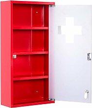 HOMCOM - Armadietto Medicinali colore Rosso